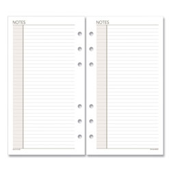 At-A-Glance Lined Notes Pages, 6.75 x 3.75, White, 30/Pack