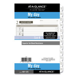 At-A-Glance 1-Page-Per-Day Planner Refills, 8.5 x 5.5, White, 2022