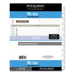 At-A-Glance 1-Page-Per-Day Planner Refills, 11 x 8.5, White, 2022
