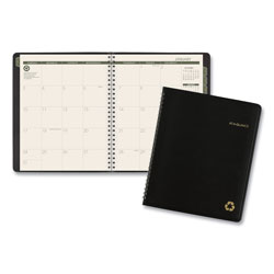At-A-Glance Recycled Monthly Planner, 8.75 x 7, Black, 2021