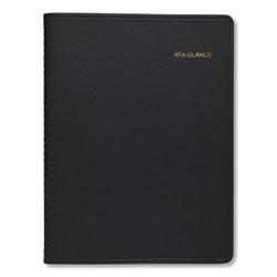 At-A-Glance Two-Person Group Daily Appointment Book, 11 x 8, Black, 2022