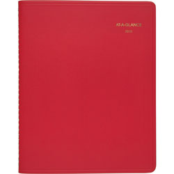 At-A-Glance Monthly Appointment Book, 9 inx11 in, Red