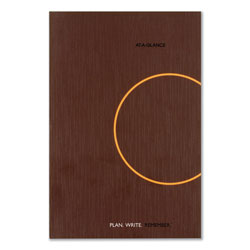 At-A-Glance One-Day-Per-Page Planning Notebook, 9 x 6, Dark Gray/Orange, 2022