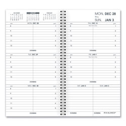 At-A-Glance Weekly Appointment Book Refill Hourly Ruled, 6.25 x 3.25, 2021