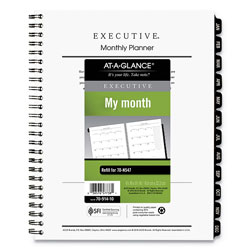 At-A-Glance Executive Monthly Planner Refill, 8.75 x 6.5, White, 2021