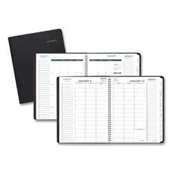 At-A-Glance Triple View Weekly/Monthly Appointment Book, 11 x 8.25, Black, 2021