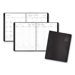At-A-Glance Contemporary Weekly/Monthly Planner, Column, 11 x 8.25, Graphite Cover, 2022