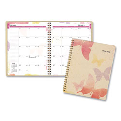 At-A-Glance Watercolors Monthly Planner, 8.75 x 7, Watercolors, 2021-2022