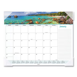 At-A-Glance Seascape Panoramic Desk Pad, 22 x 17, 2022