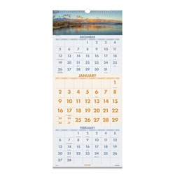 At-A-Glance Scenic Three-Month Wall Calendar, 12 x 27, 2022
