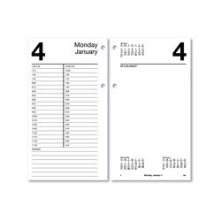 At-A-Glance Large Desk Calendar Refill, 4.5 x 8, White, 2021