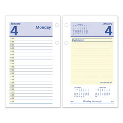 At-A-Glance QuickNotes Desk Calendar Refill, 3.5 x 6, 2021