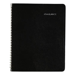 At-A-Glance Open-Schedule Weekly Appointment Book, 8.75 x 7, Black, 2022
