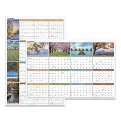 At-A-Glance Seasons in Bloom Vertical/Horizontal Erasable Wall Planner, 24 x 36, 2021