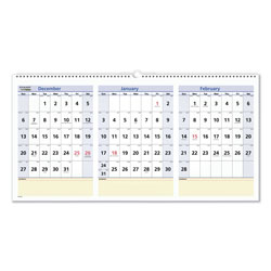 At-A-Glance QuickNotes Three-Month Wall Calendar, Horizontal Format, 24 x 12, 2021