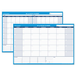 At-A-Glance 30/60-Day Undated Horizontal Erasable Wall Planner, 48 x 32, White/Blue,