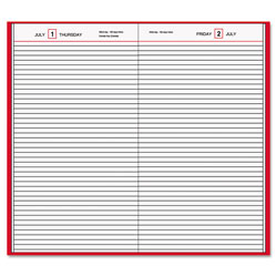 At-A-Glance Standard Diary Daily Diary, Recycled, Red, 12.13 x 7.69, 2022