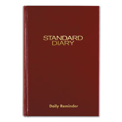 At-A-Glance Standard Diary Recycled Daily Reminder, Red, 8.25 x 5.75, 2022