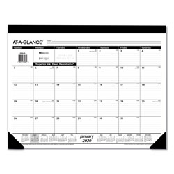 At-A-Glance Monthly Refillable Desk Pad, 22 x 17, White, 2022