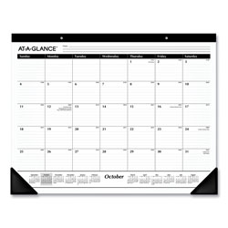 At-A-Glance Ruled Desk Pad, 21.75 x 17, 2020-2021