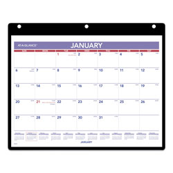 At-A-Glance Monthly Desk/Wall Calendar, 11 x 8, White, 2022