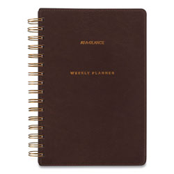 At-A-Glance Signature Collection Distressed Brown Weekly Monthly Planner, 8.5 x 5.5, 2021-2022