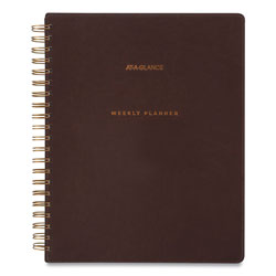 At-A-Glance Signature Collection Distressed Brown Weekly Monthly Planner, 11 x 8.5, 2021-2022