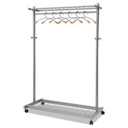"""ALBA Double-Sided Two Shelf Garment Rack 45 3/5""""W x 22""""D"""