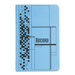 Cardinal Record Ledger Book, Blue Cloth Cover, 500 7 1/4 x 11 3/4 Pages