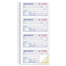 Adam Two-Part Rent Receipt Book, 2 3/4 x 4 3/4, Carbonless, 200 Forms