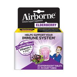 Airborne® Immune Support Effervescent Tablet, Elderberry, 20 Count