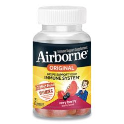Airborne® Immune Support Gummies, Very Berry, 21/Bottle