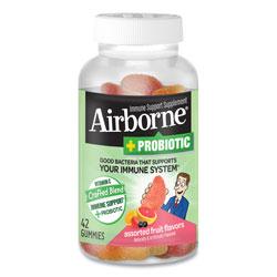 Airborne® Immune Support Plus Probiotic Gummies, Assorted Fruit Flavors, 42/Bottle