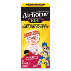 Airborne® Kids Immune Support Chewable Tablets, Very Berry, 32 Tablets per Box