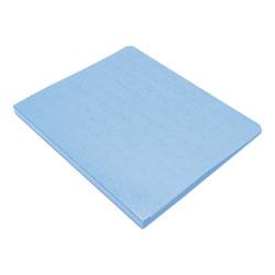 Wilson Jones PRESSTEX Grip Binder, Clamp System, 0.63 in Capacity, 11 x 8.5, Light Blue