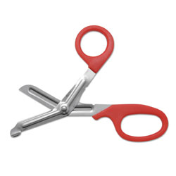 Westcott® Stainless Steel Office Snips, 7 in Long, 1.75 in Cut Length, Red Offset Handle