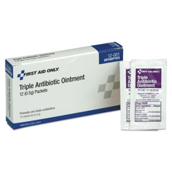 Physicians Care First Aid Kit Refill Triple Antibiotic Ointment, 12/Box