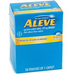 Aleve® Aleve, Single Dose Med Pack, 50/BX, Blue