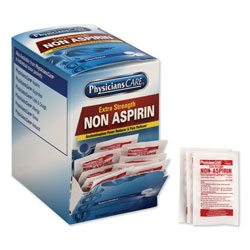 Physicians Care Non Aspirin Acetaminophen Medication, Two-Pack, 50 Packs/Box