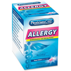 Acme Allergy Reflief Tablet Packets, 50/BX, Blue