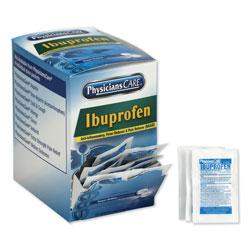 Physicians Care Ibuprofen Pain Reliever, Two-Pack, 125 Packs/Box
