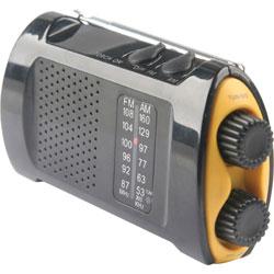 Acme Emergency Crank Radio w/Flashlight, Yellow/Black