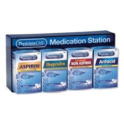 Physicians Care Medication Station: Aspirin, Ibuprofen, Non Aspirin Pain Reliever, Antacid
