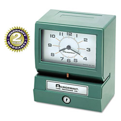 Acroprint Time Recorder Model 150 Analog Automatic Print Time Clock with Month/Date/1-12 Hours/Minutes