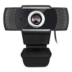 Adesso CyberTrack H4 1080P HD USB Webcam with Microphone, 1920 pixels x 1080 pixels, 2.1 Mpixels, Black