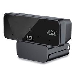 Adesso CyberTrack H6 4K USB Fixed Focus Webcam with Microphone, 3840 Pixels x 2160 Pixels, 8 Mpixels, Black