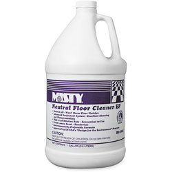 Misty Optimax Neutral Floor Cleaner, 4/CT, Lemon Scent, GN