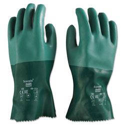 Ansell Scorpio Neoprene Gloves, Green, Size 10, 12 Pairs