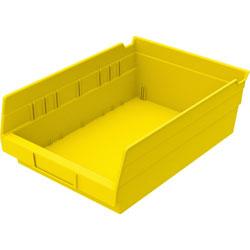 "Akro-Mills Shelf Bin, 8 3/8""Wx11 5/8""Dx4""H, Yellow"