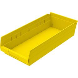"Akro-Mills Shelf Bin, 8 3/8""Wx17 7/8""Dx4""H, Yellow"